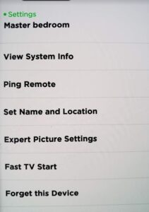 Not Cable Roku App Device Settings Screen